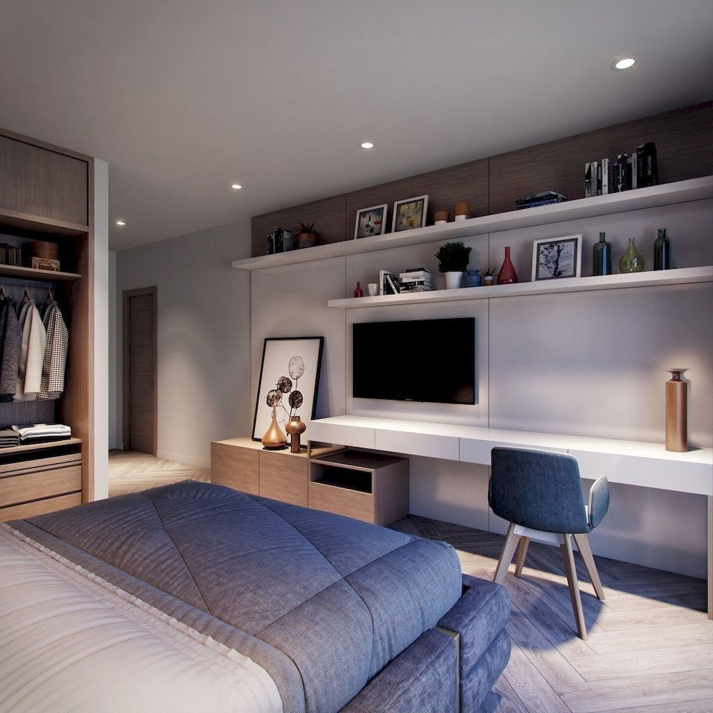 Best Minimalist Bedroom Decor Ideas 26 Di 2020 Ide Kamar Tidur Desain Interior Ide Apartemen Interior bedroom best home design