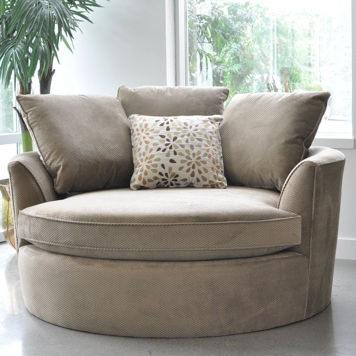 Create Your Own Comfort Zone With The Cuddler Chair. This Oversize Round  Chair Comfortably Fits