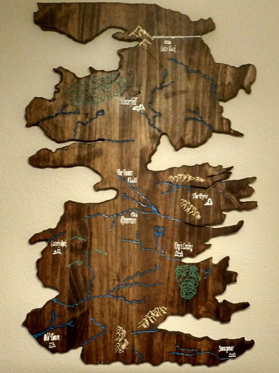 Game of thrones map of westeros wood carving by engravingeclectic