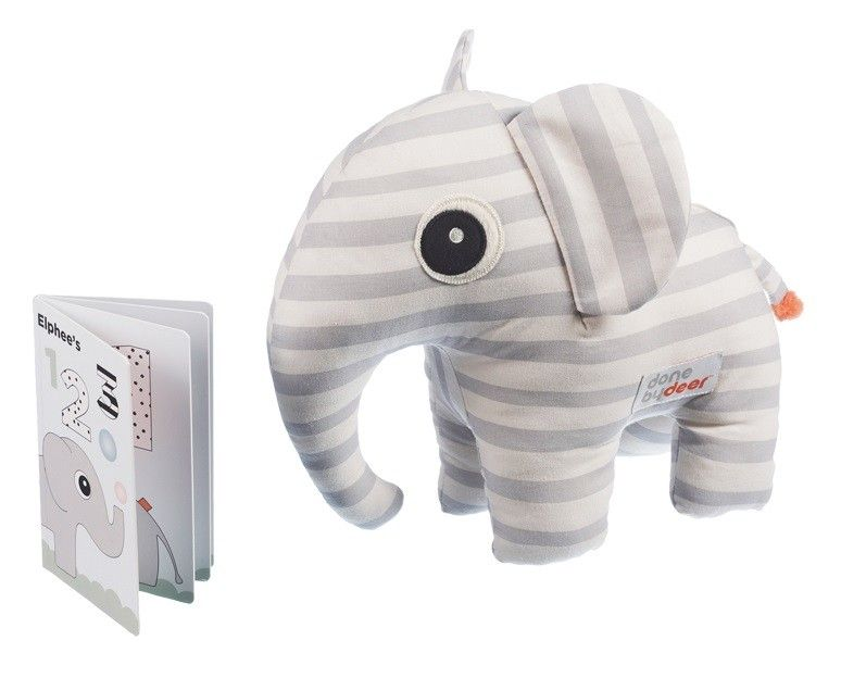 Elphee Soft Toy and Book Gift Box - Grey