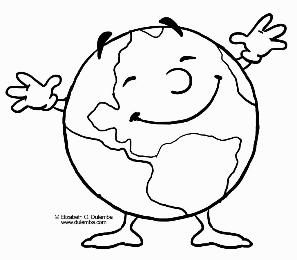 Planet Earth Coloring Page