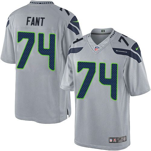 premium selection 07c52 3f4a2 Youth Nike Seattle Seahawks  74 George Fant Limited Grey Alternate NFL  Jersey