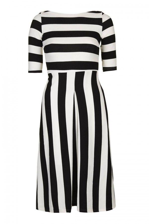 TFNC Maria Black Midi Dress