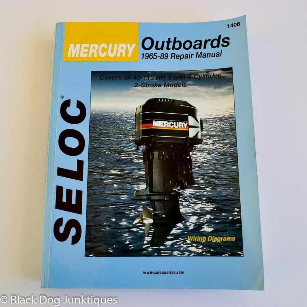 Mercury Outboard Engine Repair Manual 1965 89 40 115 Hp 3 4 Cylinder 2 Stroke Mercury Outboard Repair Manuals Engine Repair