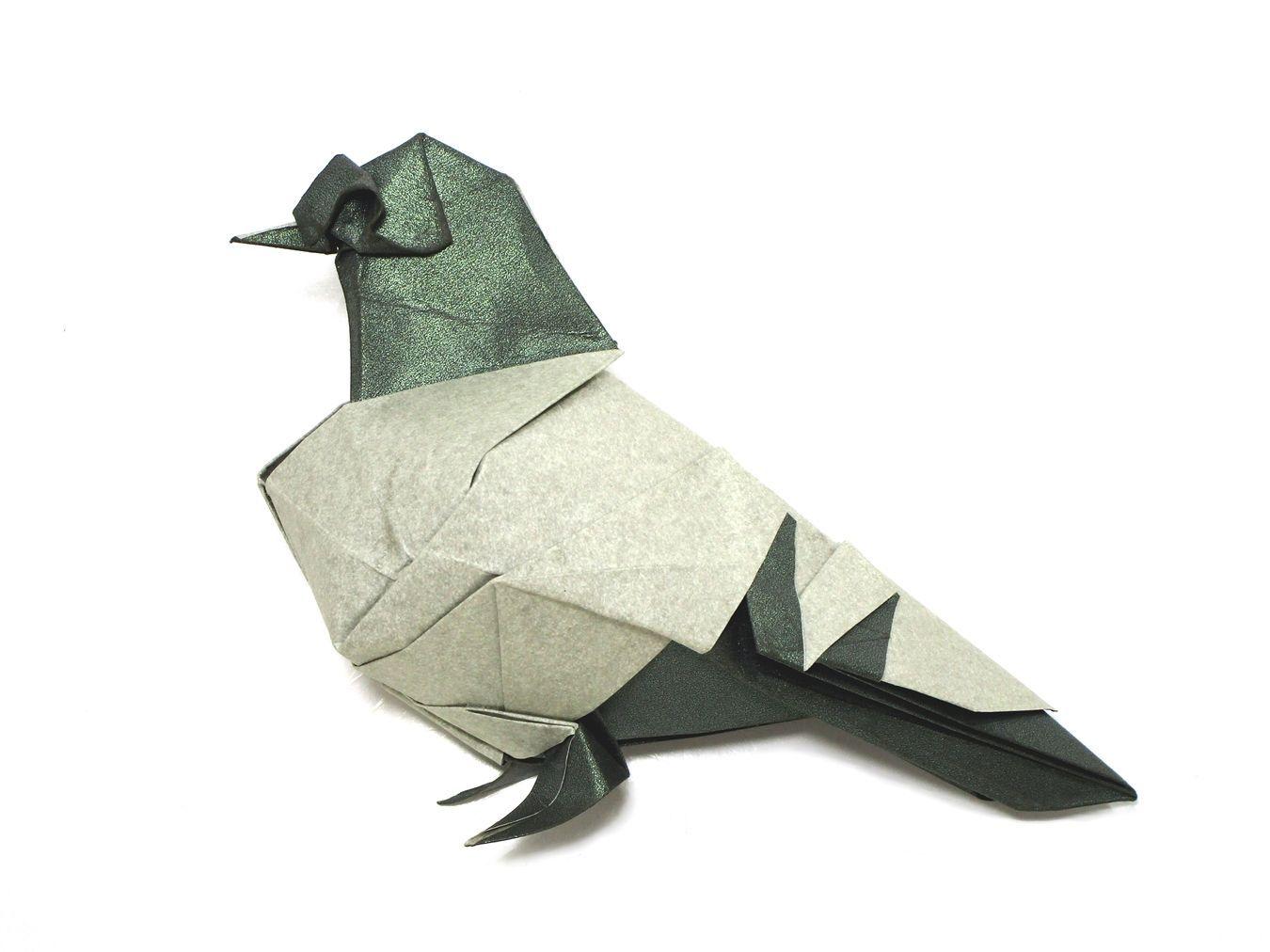 Blue Bar Pigeon Román Díaz Birds Origami Origami Tutorial