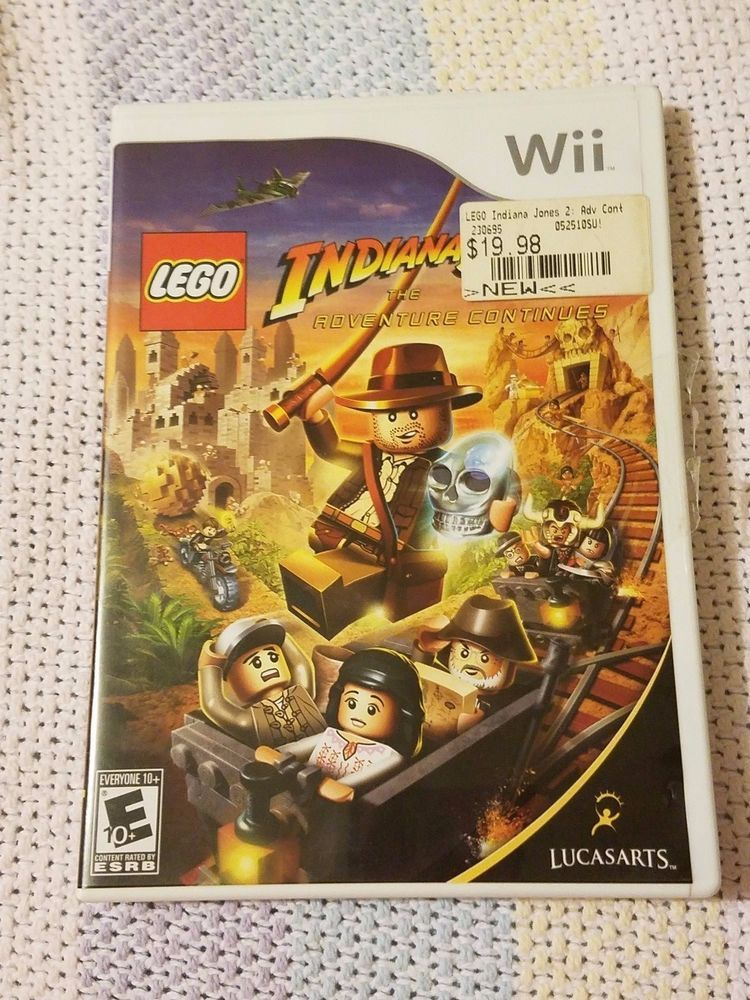 Nintendo Wii Lego Indiana Jones 2 Ii Video Game Complete W