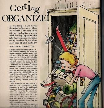 Fun ideas from an old article on getting organized