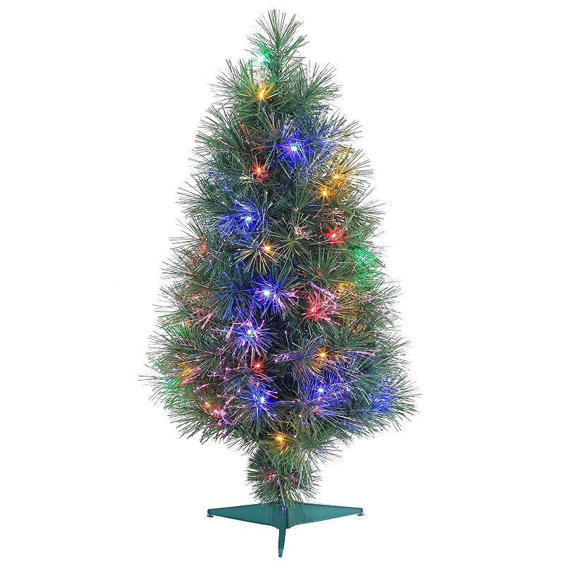 Argos Fiber Optic Christmas Trees: Sterling 3' Multi-Colored LED Fiber Optic Artificial