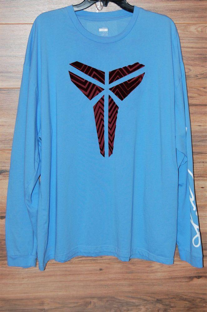 more photos be927 58570 Nike Dri-Fit Kobe Bryant KB 24 Black Mamba Long Sleeve T Shirt Mens XL Blue  Red  Nike  GraphicTee