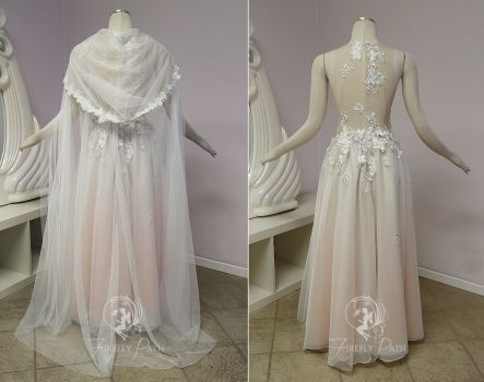 Peach Petal Gown Back View By Firefly Path With Images