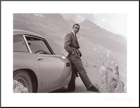 James Bond Aston Martin Posters Allposters Com Sean Connery James Bond Aston Martin