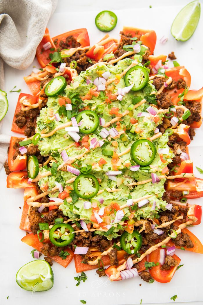 Bell Pepper Nachos (Whole30)