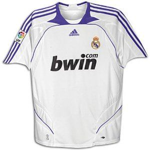 ba1c850e7 Real Madrid 07 08 Home Soccer Jersey by adidas.  65.00. Know this shirt is  genuine when you feel the sewn LFP badge over the right arm