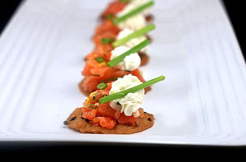Smoked Salmon Crisps With Lemon Wasabi Cream Cheese Recipe For Tuiles And Salmon From Thomas Keller S French Laundry