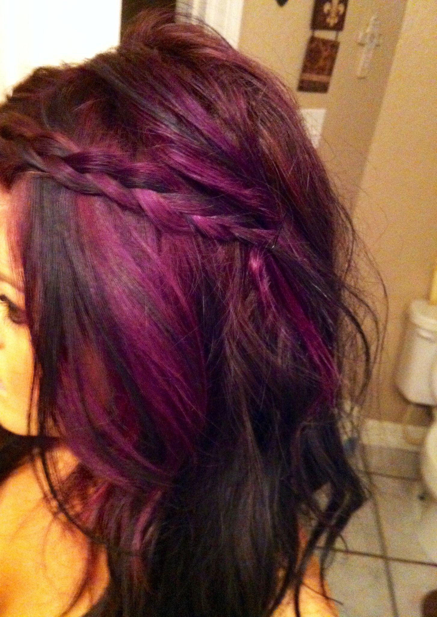 Purple Highlights For Short Hair Hair And Tattoos Of Hair ...