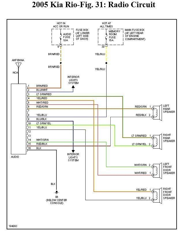 Kia Spectra Wiring Diagram In 2007 Kia Spectra Wiring Diagram Wiring Diagram Rear Speakers Radio Kia Rio