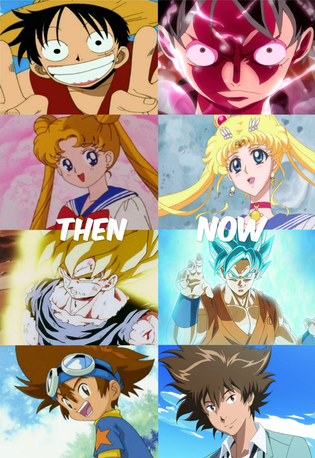 Toei animation then and now 90s 2015