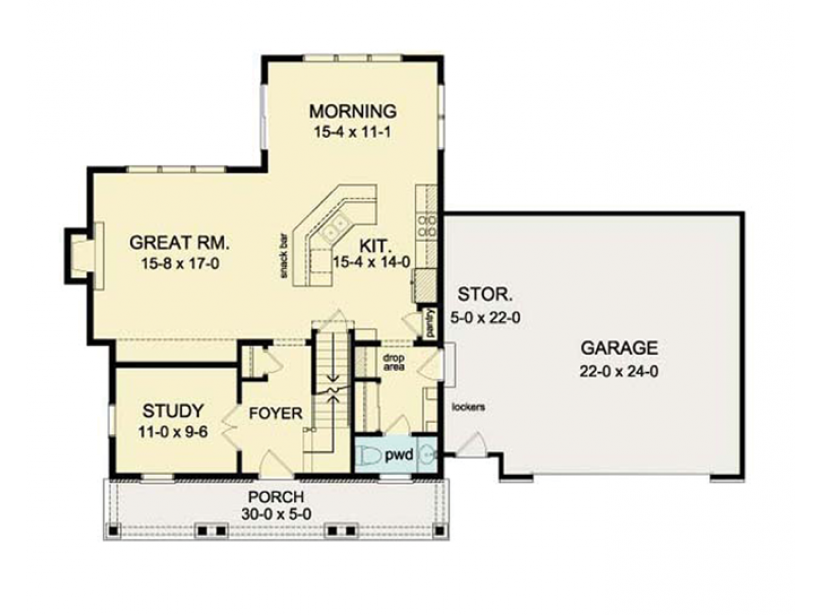 Eplans colonial house plan open floor plan colonial for Open floor plan colonial