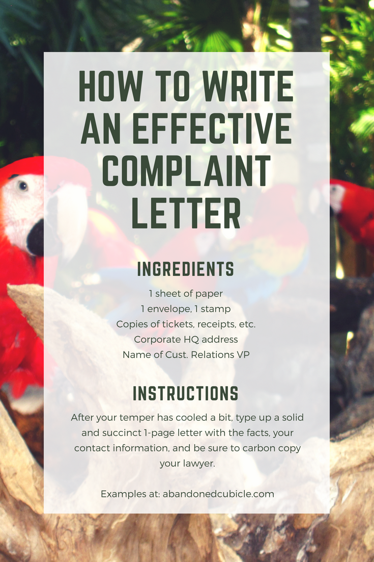 How to write an effective complaint letter 2 examples just about every consumer experiences a let down by a product or service more expocarfo Images