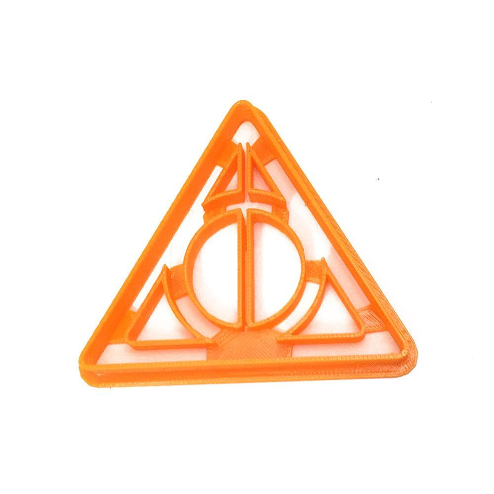 Harry potter deathly hallows cookie cutter harry potter deathly the harry potter deathly hallows symbol in cookie cutter form handmade printed with abs dishwasher safe plastic cookie cutter ideal for biocorpaavc Images