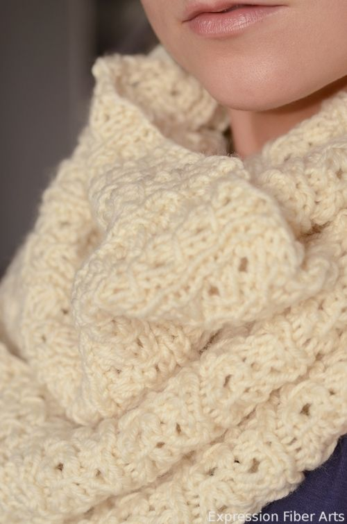 """Knitting Cowls In The Round : Stockholm scarf finished object """"instructions for"""