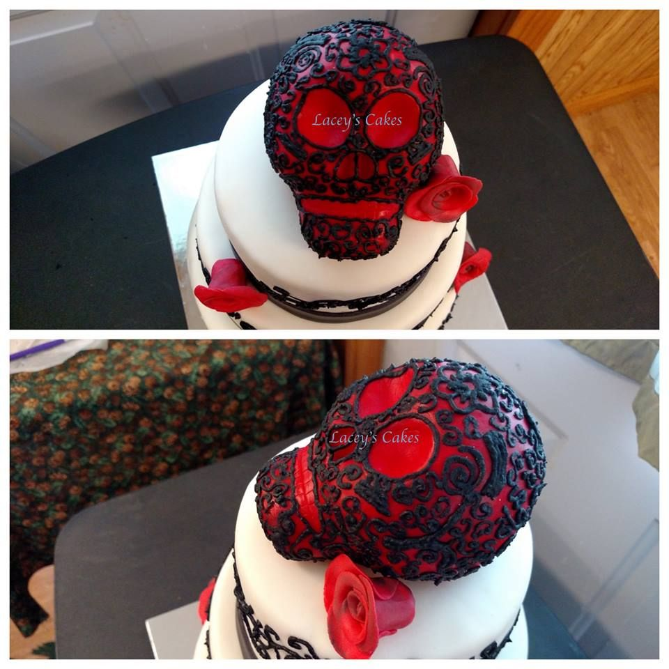 edible skull cake topper