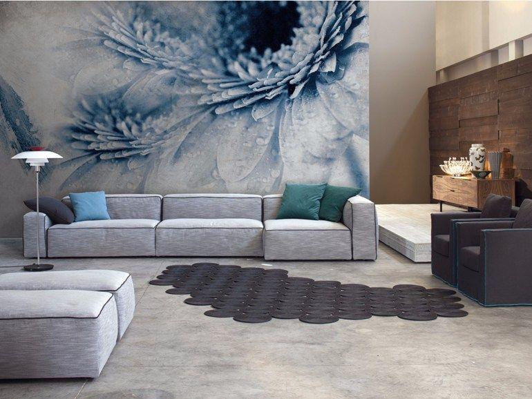 blumen- tapete panorama aus glasfaser im modernen stil van-gi, Wohnzimmer dekoo