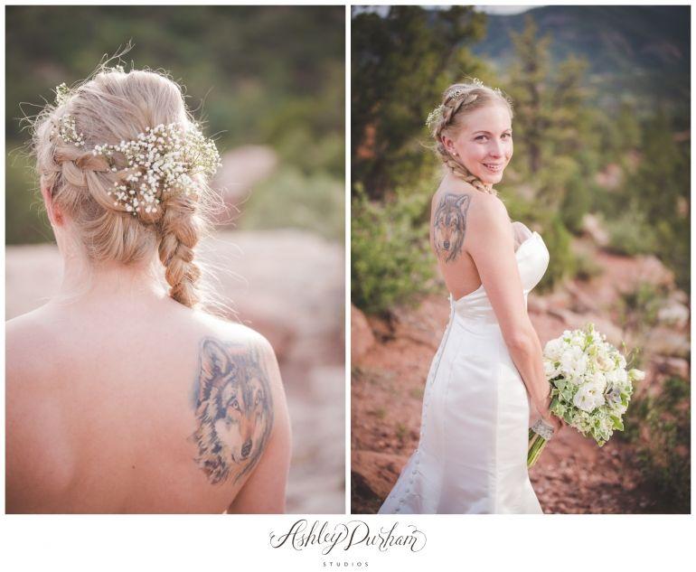 summer wedding, elopement, garden of the gods, vie floral colorado, rustic elopement, rustic wedding, sunset wedding