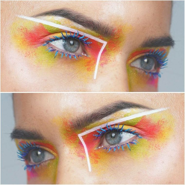 Hoy hablamos del maquillaje neon una tendencia que arrasa en las
