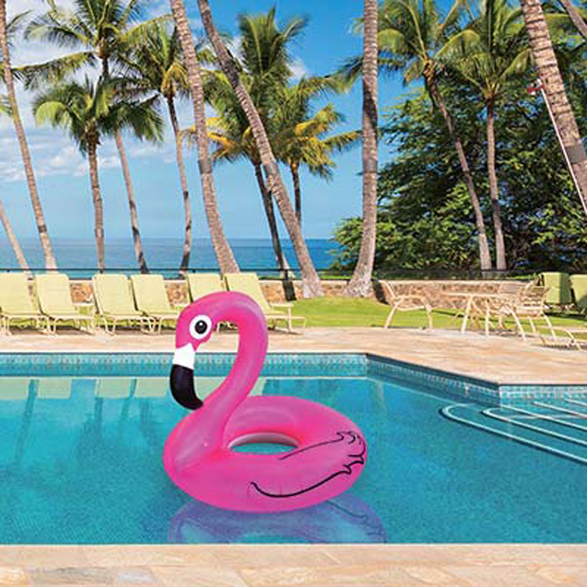 Amazon Big Mouth Toys Pink Flamingo Pool float inflates to
