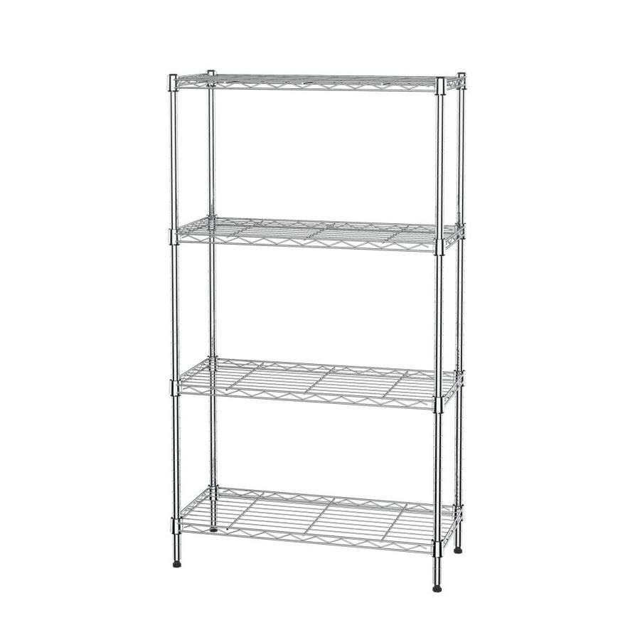 Mzg 11 8 In D X 25 6 In W X 45 5 In H 4 Tier Steel Freestanding