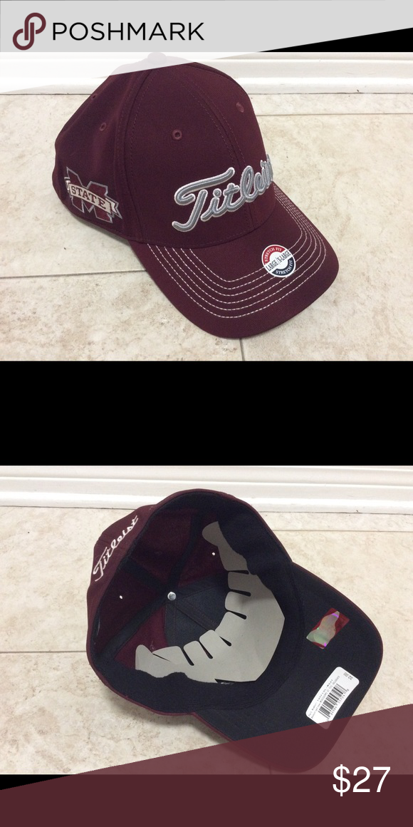 25c33217ada Titleist Collegiate Golf Cap Mississippi State Fitted golf cap by Titleist.  MSU bulldogs colors and logo. Titleist Accessories Hats