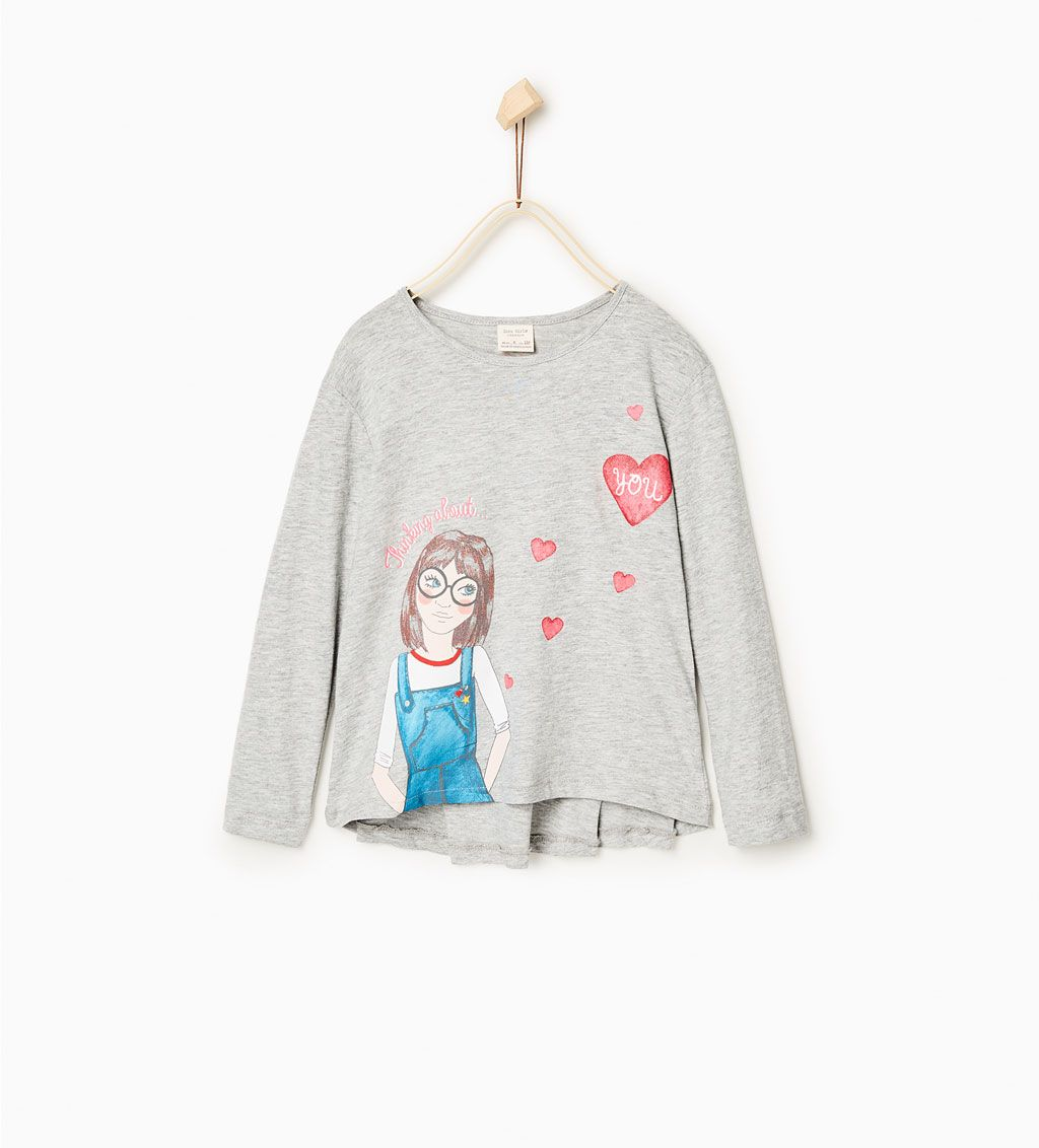 057fa8c29d Image 1 of Doll print top from Zara | Girls | Pinterest | Shirts, T ...