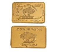 Wish 24k American Buffalo Gold Bullion Us Mint One Troy Ounce Bar 100mills 999 Fine Gold Coins Collection Size 4 Gold Bullion Gold Bullion Bars Gold Coins