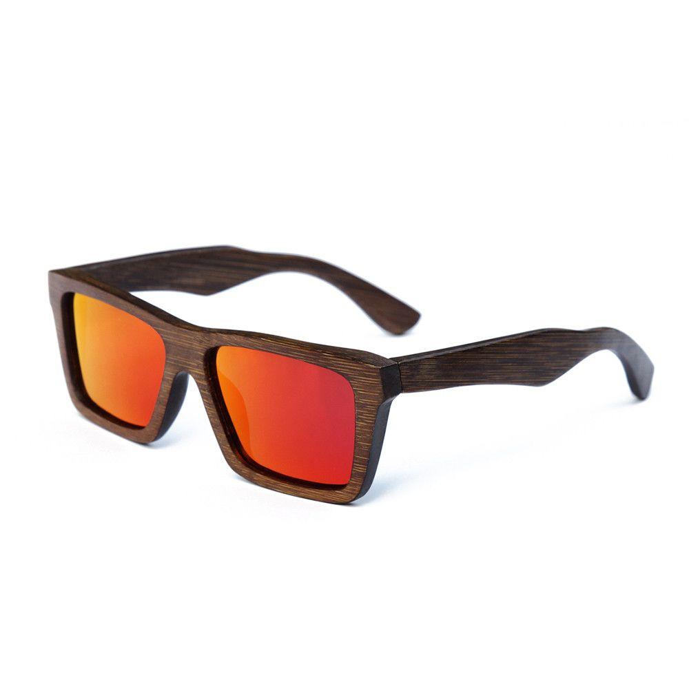 Bamboo Wooden Wayfare Sunglasses Handmade Retro UV400 Bag Natural Clothes
