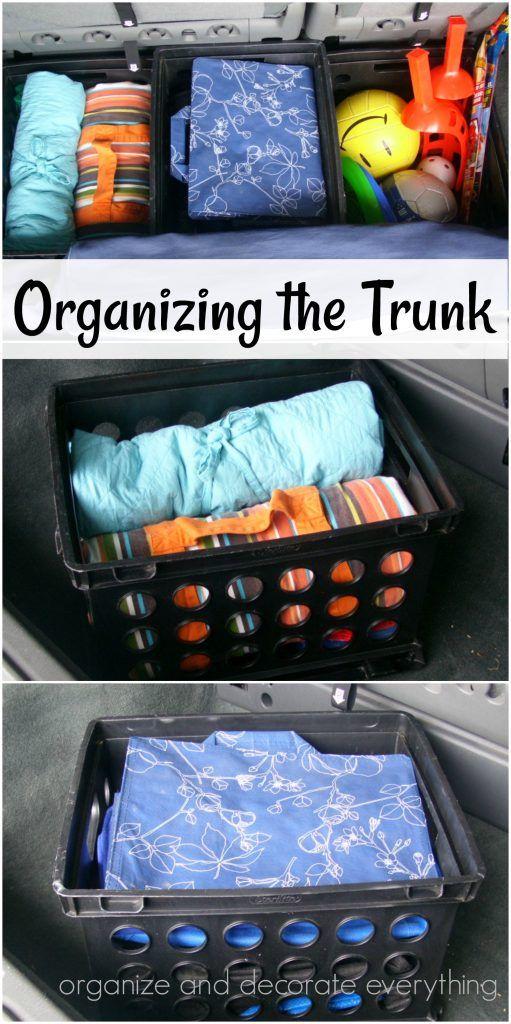 Organizing the Trunk | Organize & Decorate | Organize ...