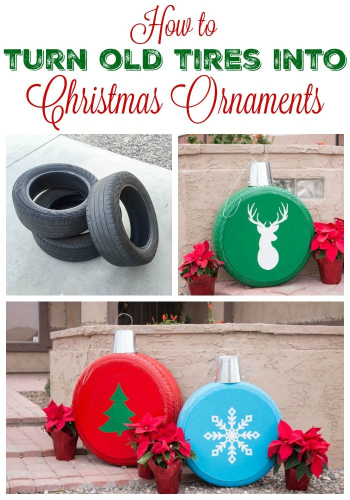 60 of the BEST Christmas Decorating Ideas  Old tires Ornaments