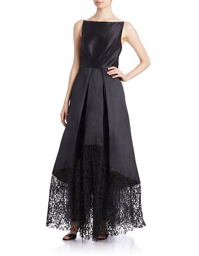 Brands Evening Formal Lace Hem Evening Gown Lord And Taylor