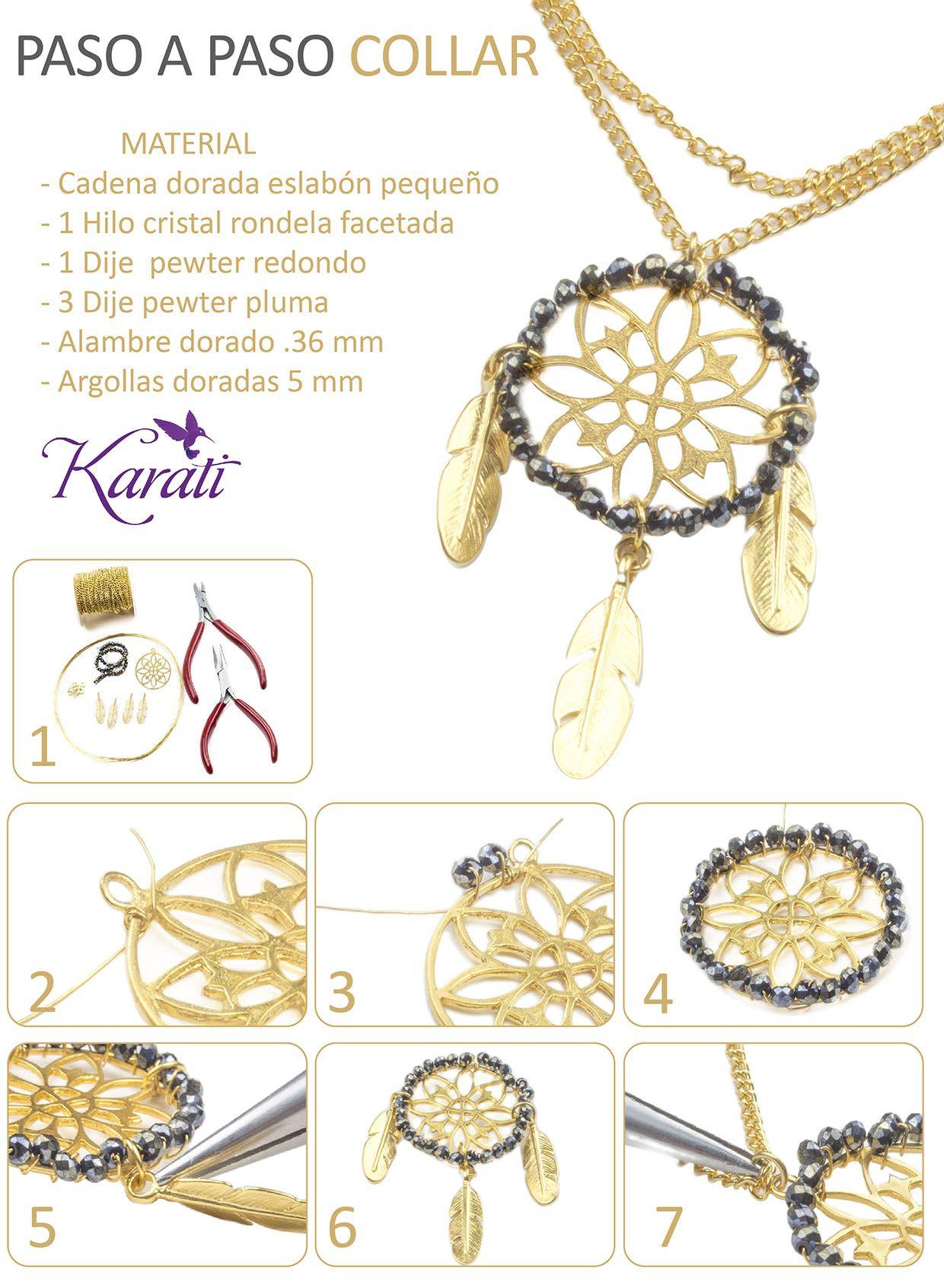 fb8ed743c0b1 Pin de Karati en DIY Joyería