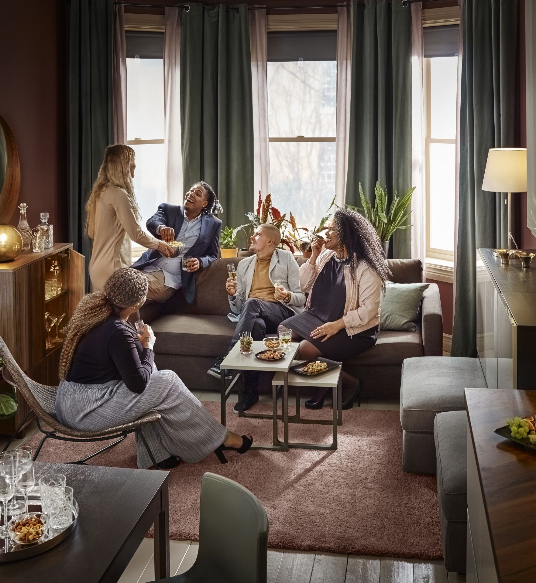 Slaapbank Ikea Donkergrijs.Friheten 3 Zitsslaapbank Skiftebo Donkergrijs The House Living
