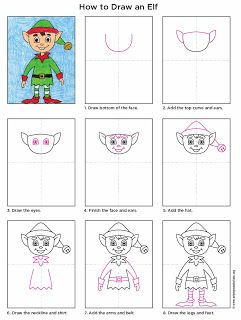 How To Draw An Elf Art Projects For Kids Christmas Art Projects Kids Art Projects Elf Art