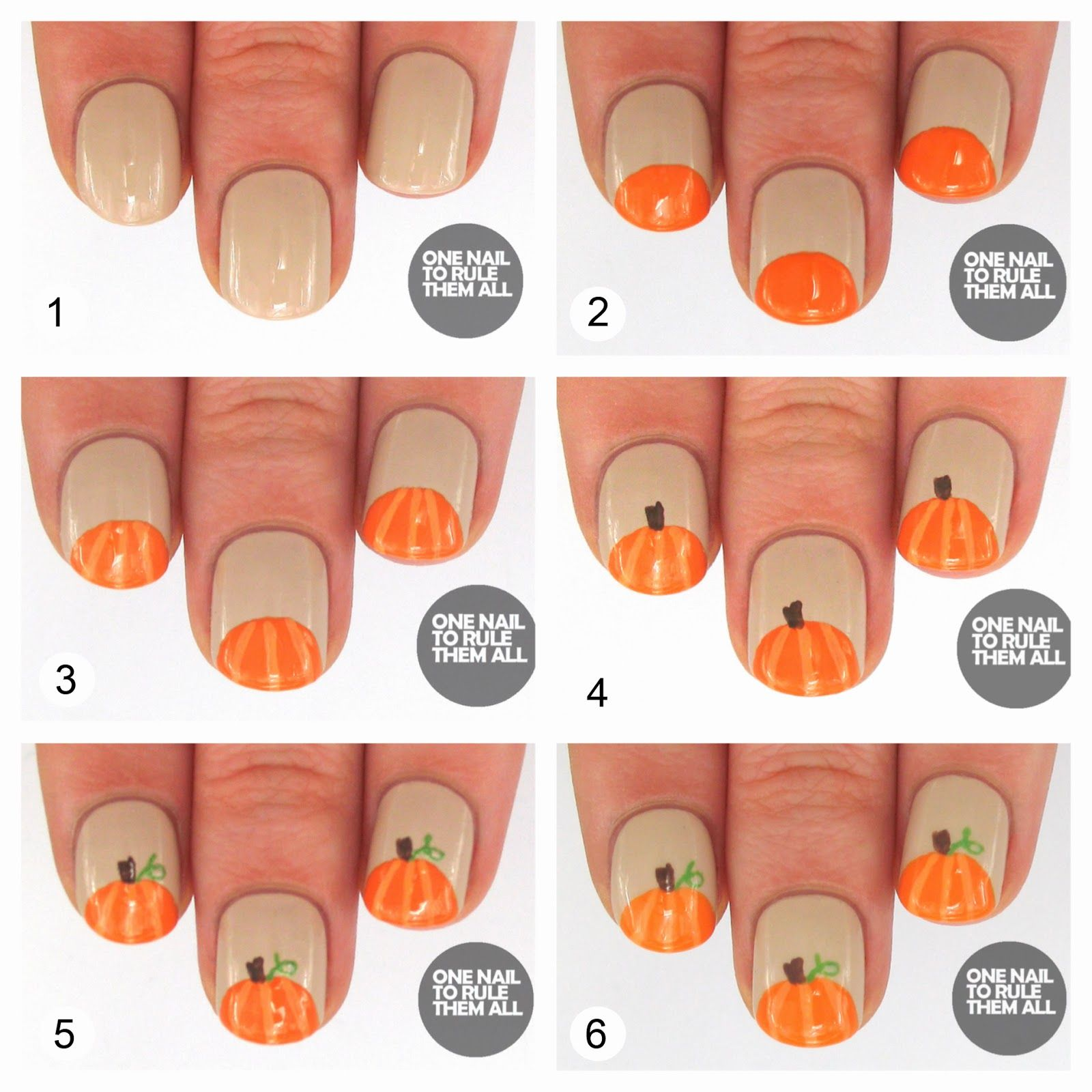 One Nail To Rule Them All: Then and Now: Pumpkins + Tutorial ...