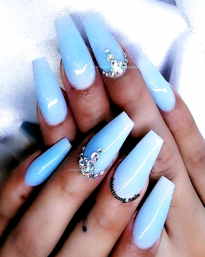 acrylic nails   acrylic   nails baby blue acrylic nails  spring acrylic nails  how to take off acryl