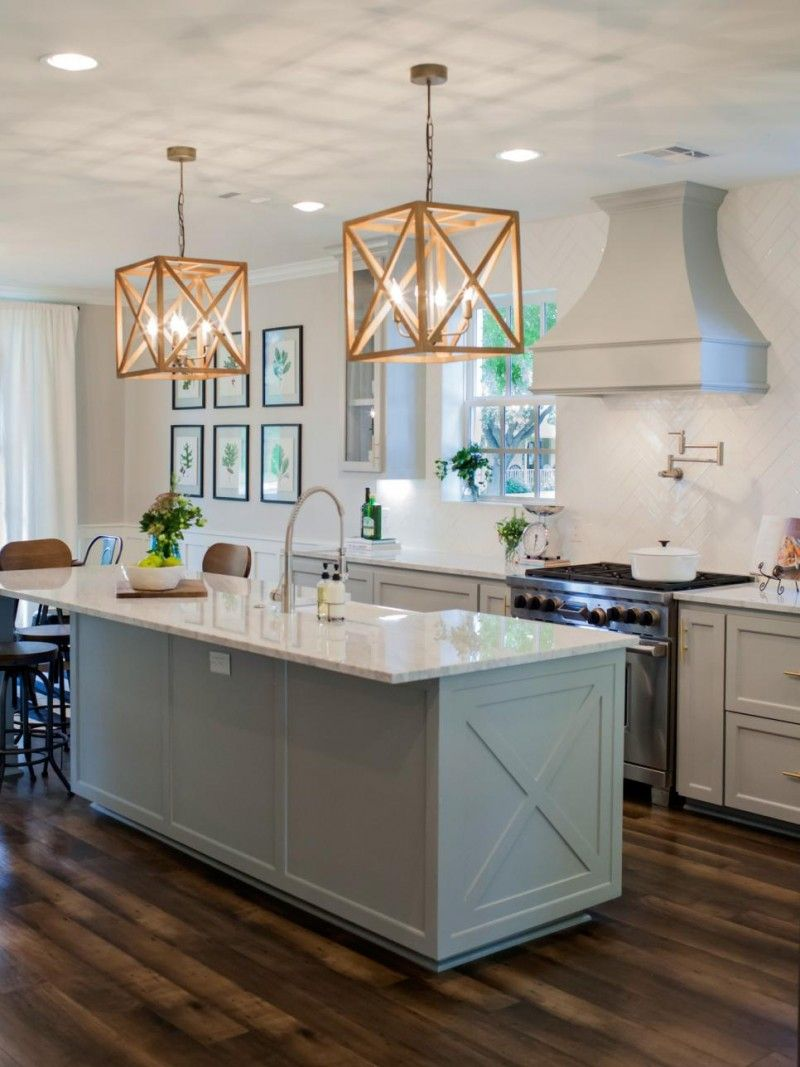 Fixer upper double kitchen island - Fixer Upper The Takeaways A Though Warm Wood Tones With Black Accentstful Place