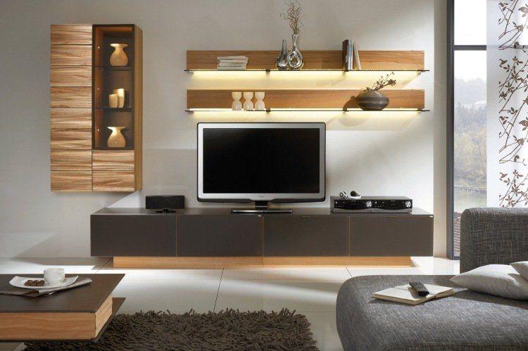 Eclairage Led Salon 30 Idees Ultra Modernes Salon Tele Idee Salon Unites Murales Tv