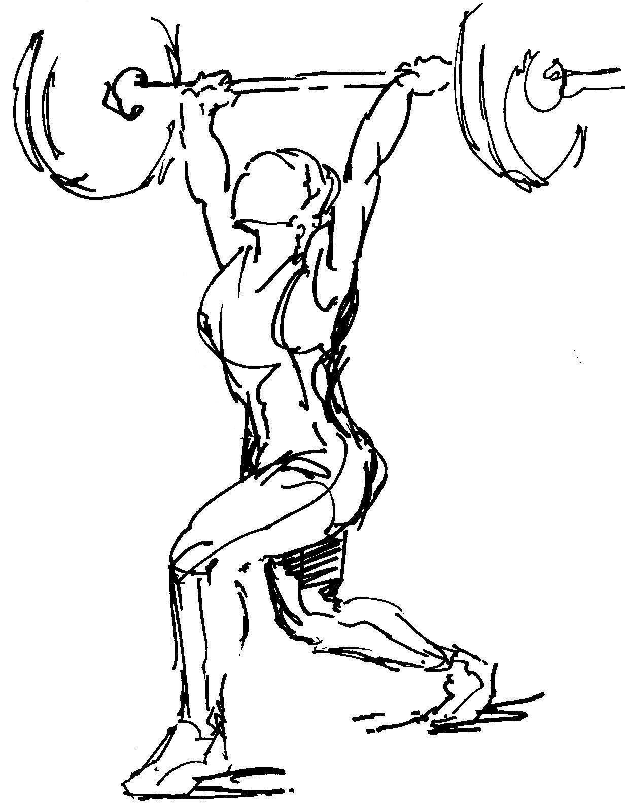 Resultado De Imagem Para Overhead Squat Drawing
