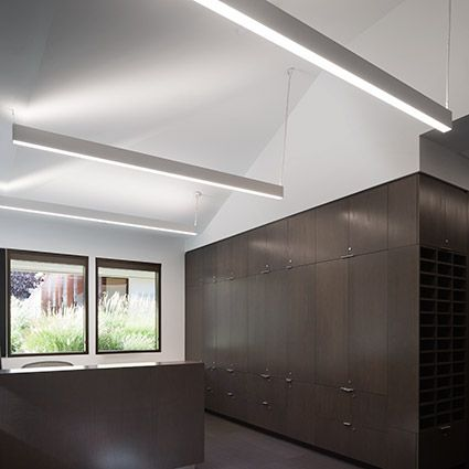 Hp 2 Id High Performance 2 Indirect Direct Led By Finelite Collaboration Space Led Lights White Light