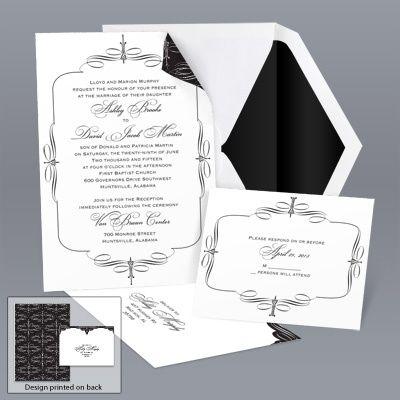 Bella Border Black Value Invitation Set Wedding Invitations Invitations Invitation Set