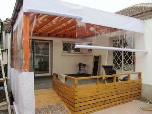 Terraza terraza pinterest terrazas cierre y cortinas for Como hacer una terraza