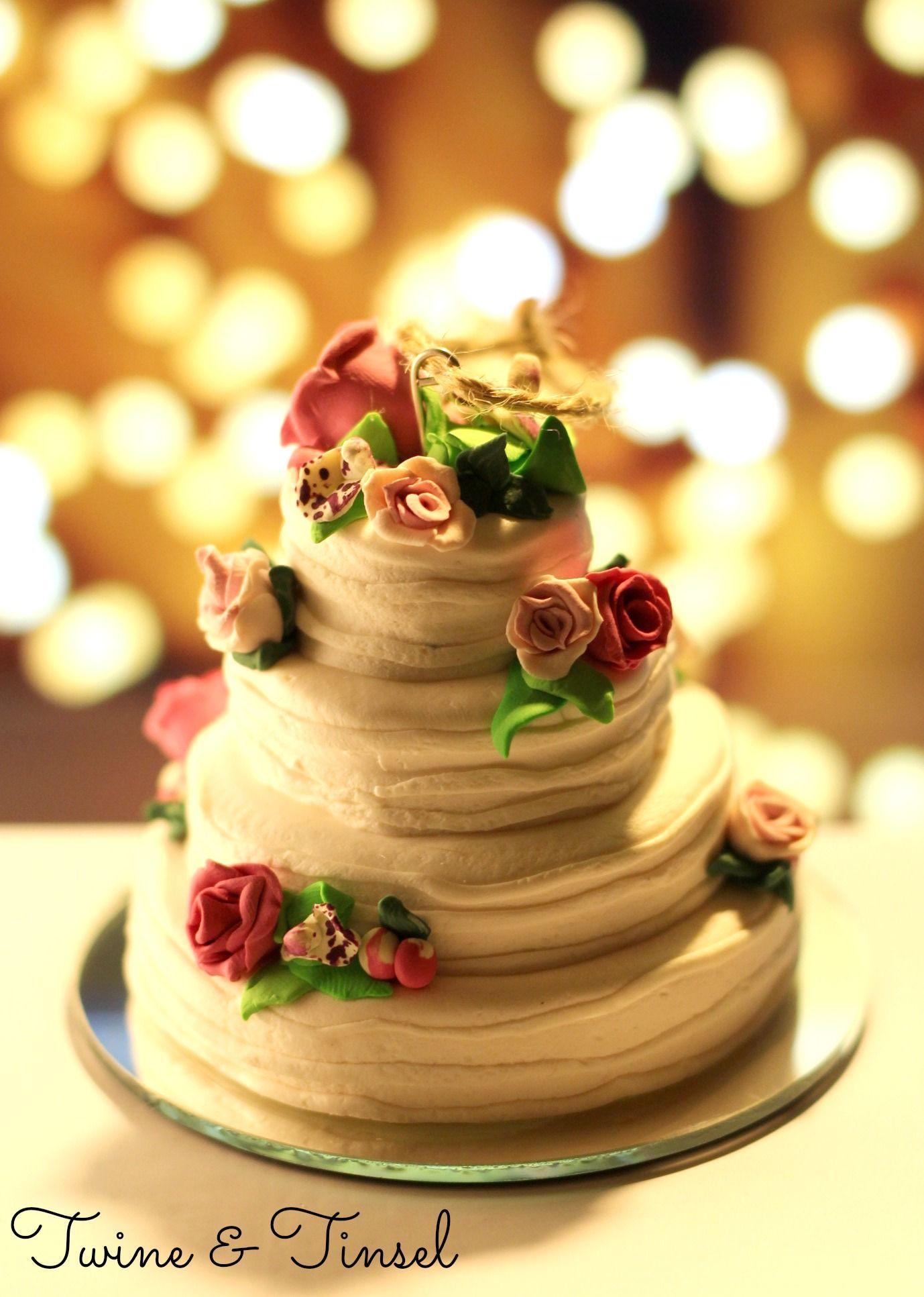 Custom Polymer Clay Miniature Wedding Cake Ornaments   Etsy   Twine ...